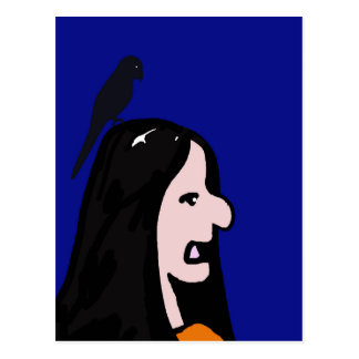 Chica del pájaro postales