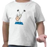 Chica del palillo que hace las camisetas y los reg