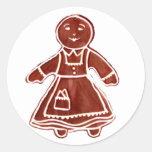 Chica del pan de jengibre los regalos de Zazzle Pegatinas Redondas
