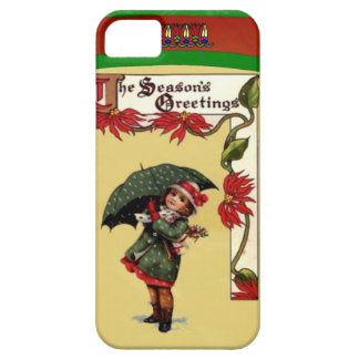 Chica del paraguas funda para iPhone 5 barely there