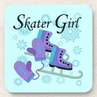 Chica del patinador posavasos