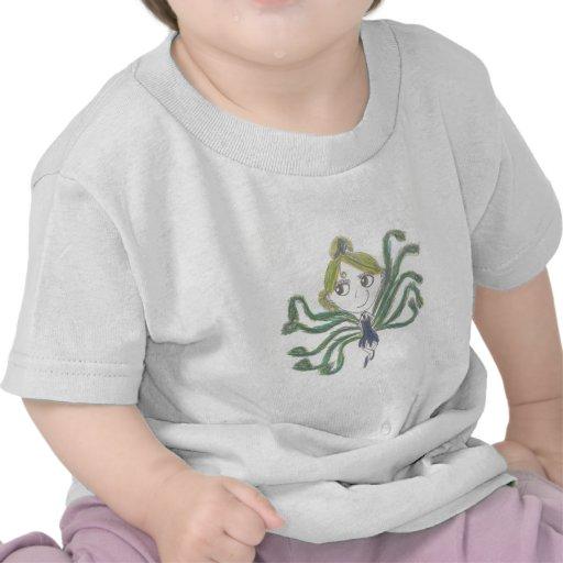Chica del pavo real camiseta