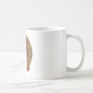 Chica del pavo real taza de café