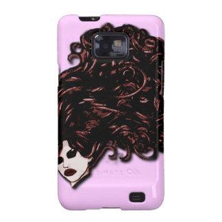 Chica del pelo (rosa y rojo) galaxy SII fundas