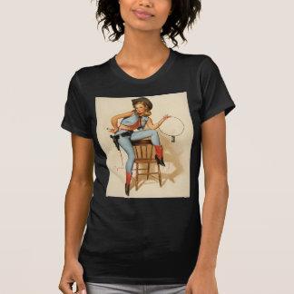 Chica del Pin-para arriba de la vaquera Camisetas