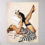Chica del Pin-para arriba del amante del perrito - Impresiones