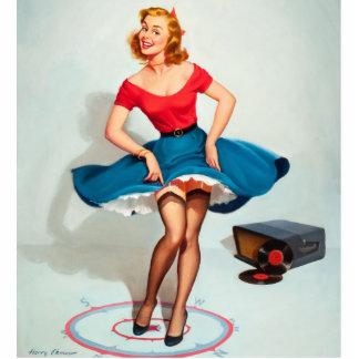Chica del Pin-para arriba del baile; Arte modelo Fotoescultura Vertical
