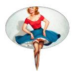 Chica del Pin-para arriba del baile; Arte modelo Figura De Tarta