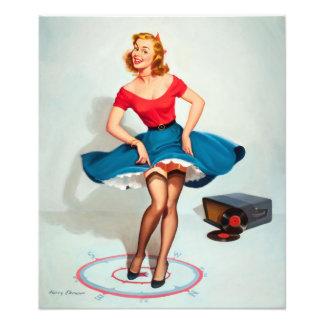 Chica del Pin-para arriba del baile; Arte modelo Fotografía