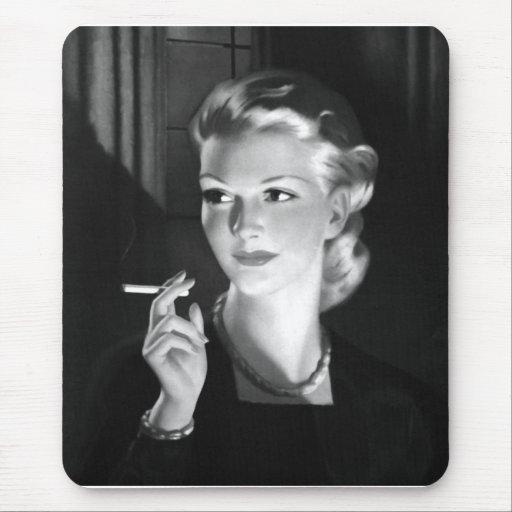 Chica del Pin-Para arriba del cigarrillo del Tapete De Raton