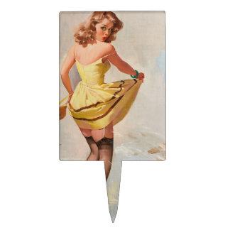 Chica del Pin-Para arriba del día lluvioso Figura Para Tarta