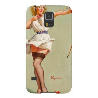 Chica del Pin-Para arriba del tiro al arco Carcasa Galaxy S5