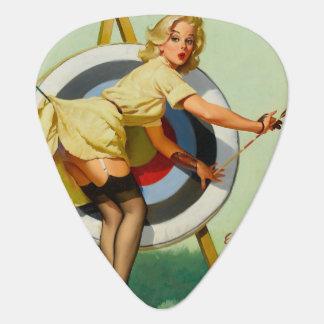 Chica del Pin-Para arriba del tiro al arco Plumilla De Guitarra