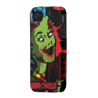Chica del Pin-Para arriba del zombi del caso del iPhone 4 Carcasas