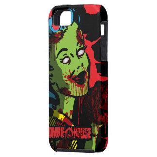 Chica del Pin-Para arriba del zombi del caso del Funda Para iPhone 5 Tough