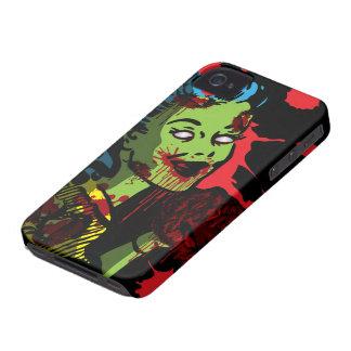 Chica del Pin-Para arriba del zombi del caso del iPhone 4 Cobertura