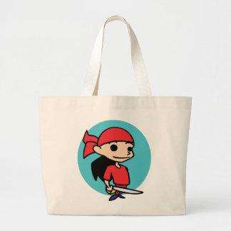 Chica del pirata bolsas de mano