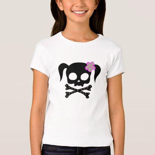 Chica del pirata de la cola de caballo remeras