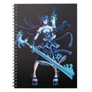 Chica del pirata del animado cuaderno