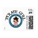 Chica del pirata franqueo