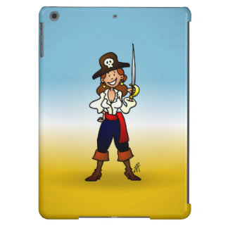 Chica del pirata funda para iPad air
