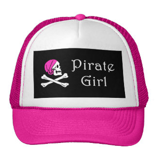 Chica del pirata gorras de camionero
