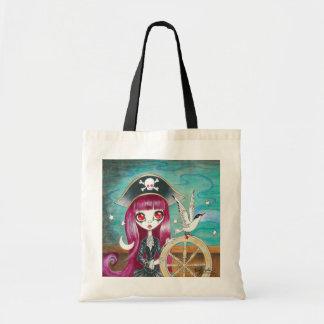 "Chica del pirata: ""Hilda "" Bolsas Lienzo"