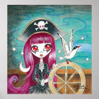 """Chica del pirata: """"Hilda """" Póster"""