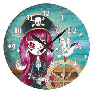 """Chica del pirata: """"Hilda """" Reloj Redondo Grande"""