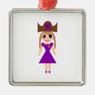 Chica del pirata ornamente de reyes