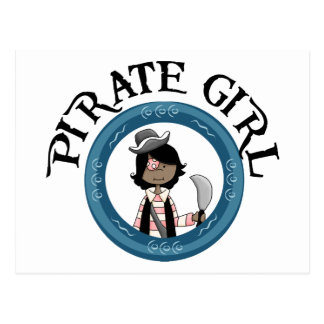 Chica del pirata postal