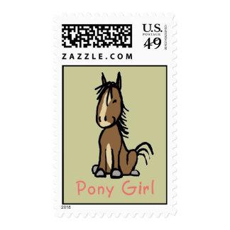 Chica del potro timbres postales