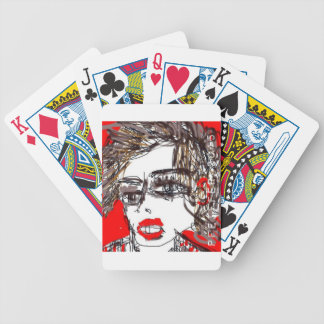Chica del punk rock barajas de cartas