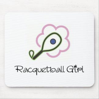 Chica del Racquetball Alfombrilla De Ratones