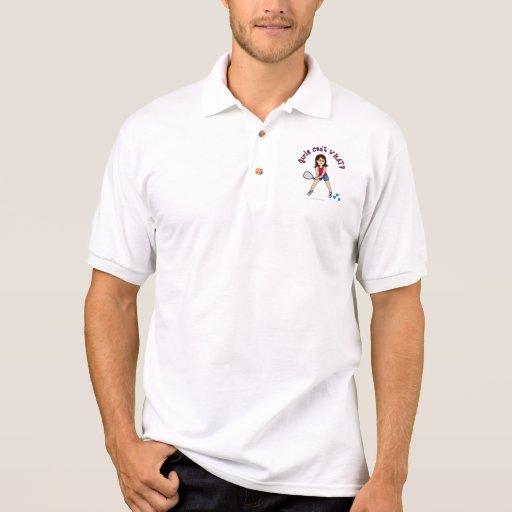 Chica del Racquetball (luz) Polo Camiseta