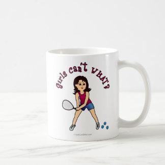 Chica del Racquetball luz Tazas