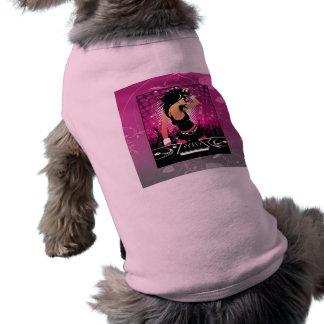 Chica del Raver que baila a DJ Playera Sin Mangas Para Perro
