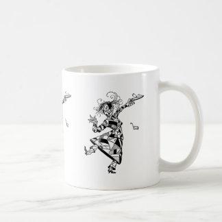 Chica del remiendo de la onza taza de café
