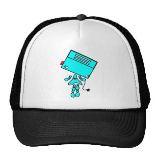 chica del robot gorras de camionero