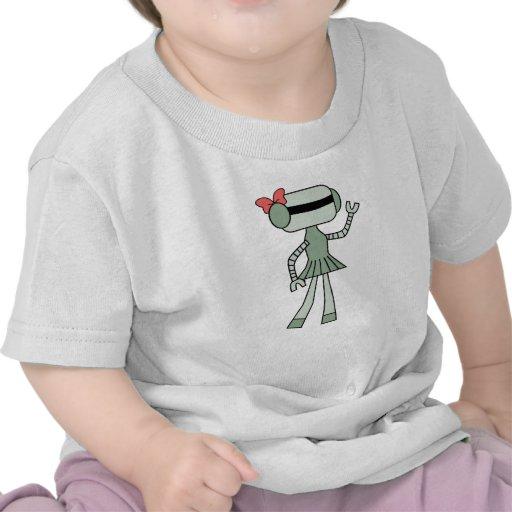 Chica del robot camisetas