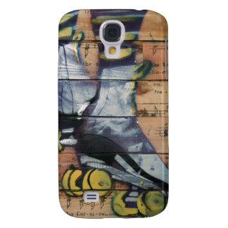 Chica del rodillo de Graffitti Funda Para Galaxy S4