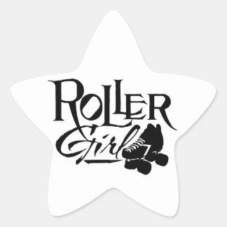 Chica del rodillo, rodillo Derby Pegatina En Forma De Estrella