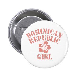 Chica del rosa de la República Dominicana Pin