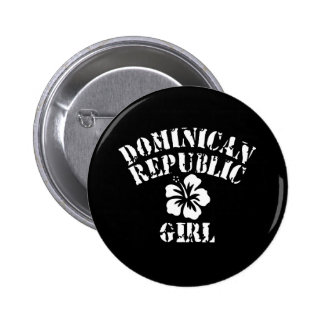 Chica del rosa de la República Dominicana Pins