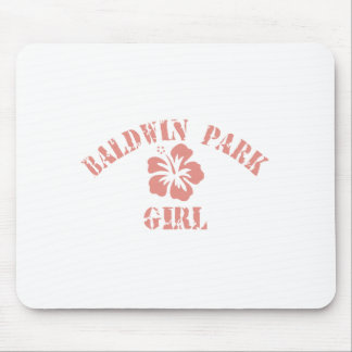 Chica del rosa del parque de Baldwin Alfombrillas De Raton