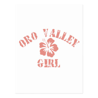Chica del rosa del valle de Oro Postales