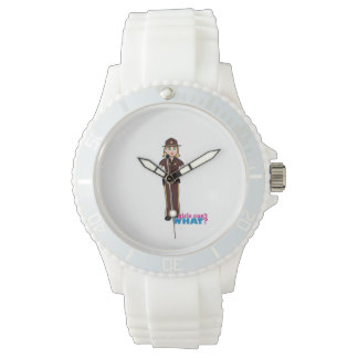 Chica del sheriff reloj de mano