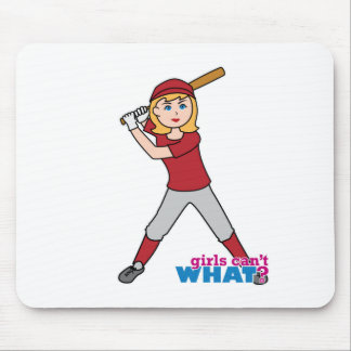 Chica del softball mouse pad
