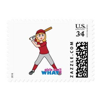 Chica del softball sello