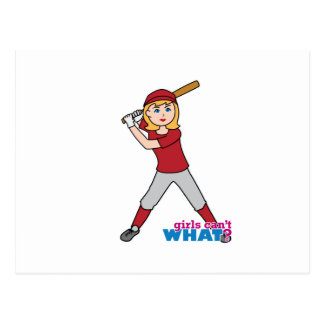 Chica del softball postales